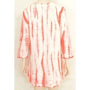 XCVI Tops - XCVI top tunic SZ XL NWT cream red cotton blend hi